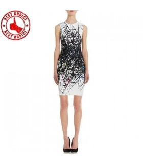 Reticolo strutturato vestito design moderno