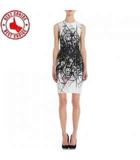 Strukturiertes Muster modernes Design Kleid