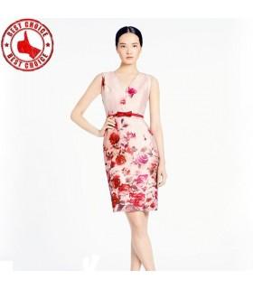 Floral print cotton romantic dress