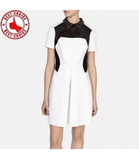 Graphique tôlé jupe robe