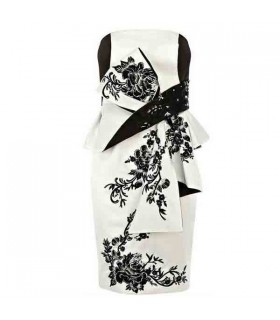 Satin-Druck verfälschtes Kleid