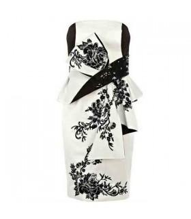 Satin imprimé robe sophistiquée