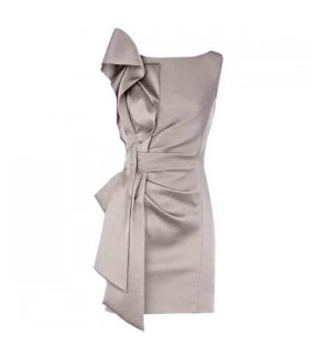 Gray metallic special folds dress