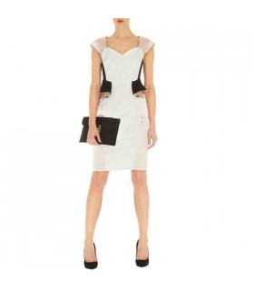 Chic peplum pencil dress