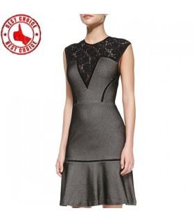 Volle umgangen Tweed Kleid