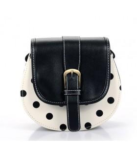 Süße weiße Handtasche mit Punkten