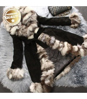 Really natural fox fur fantastic chic coat