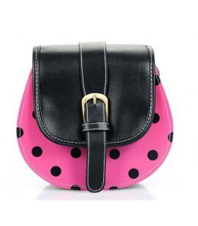 Süße pinke Handtasche mit Punkten