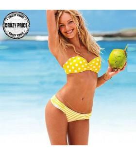 Yellow joyfull bikini swimwear