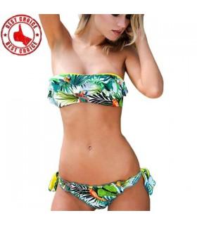Exotic flowers sexy bikini swimwear