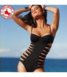 Noire sexy une pièce maillot de bain monokini
