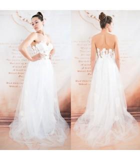 Sexy Korsage Tüll Baumwolle Lace Hochzeitskleid
