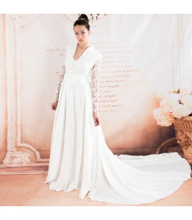Soft royal elegant wedding dress