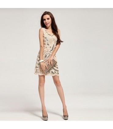 pailletten verschönert blumen creme verschönert kleid