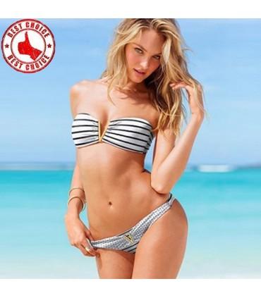 Sexy Grafik Vom Bandeau Bikini Badeanzug Grosse M