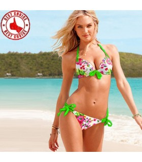 Floral bright neon color swimsuit