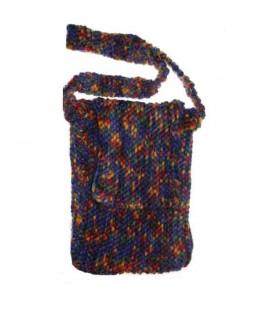 Kleine bunte Woll Handtasche
