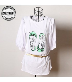 Shoes pattern long t-shirt