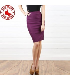 Purple slim skirt