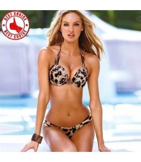 Tier Drucken mit Strass sexy Bikini Bademode