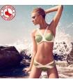Moderne Schnitte Pistazien grün Badeanzug