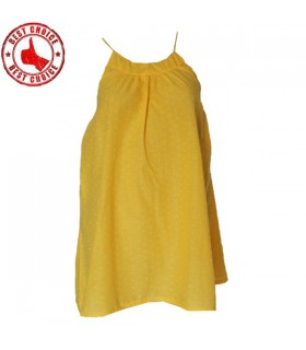 Yellow quality cotton fresh top