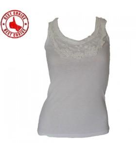 Weiße Spitze Baumwolle top