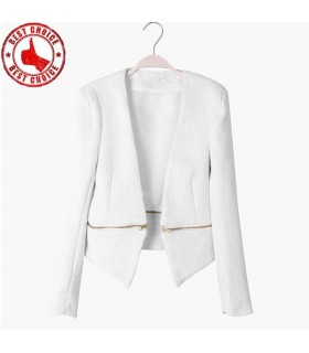 Zipper detachable chic blaser