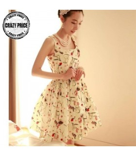 Chic print romantic dress