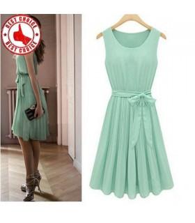 Vert menthe robe plissé