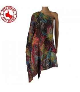 Color printed natural vale dress