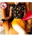Colorful dot blouse