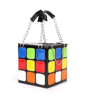 Modische Handtasche in Würfelform