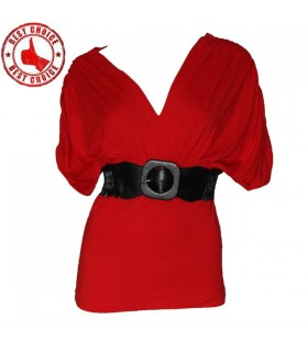 Rosso sexy bellissime top