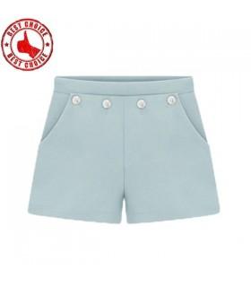 Short bleu en coton