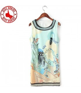 Marine print leisure dress