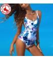 Marine blue full swimsuit