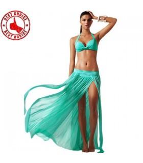 Vêtements maillots haut de bikini et jupe