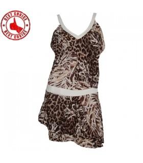 Elastic leopard retro dress