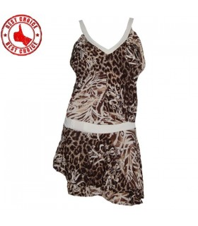 Elastische Leoparden Retro-Kleid