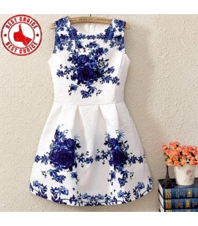 Natural waist lovely white dress