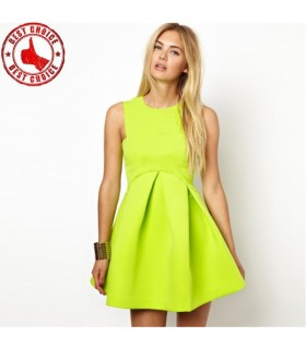 Green chic dress