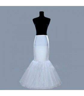 Mermaid trumpet crinoline skirt for wedding dress