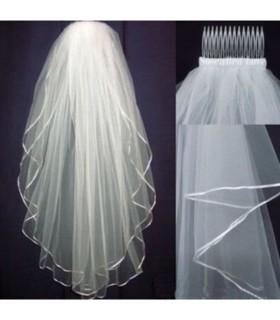 Weißer Tüll einfache Hochzeitsschleier