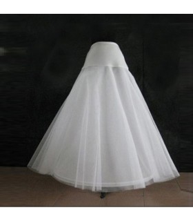 A-shape skirt crinoline wedding dress