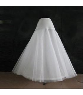 Robe de mariée de crinoline de jupe d'a-forme