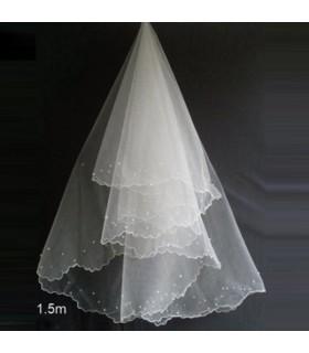 Zarte Schleier für Hochzeitskleid