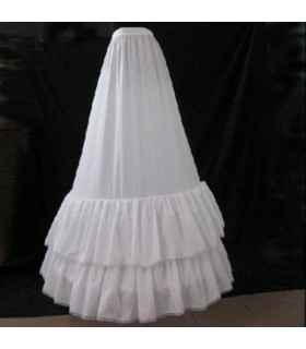 A-shape layer peticoat dress wedding dress