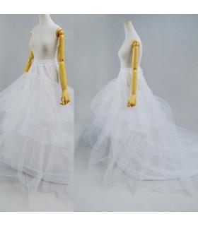Tre strati crinoline gonna abito da sposa