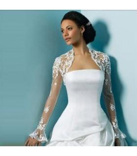 Boléro avec dentelle pour robe de mariée